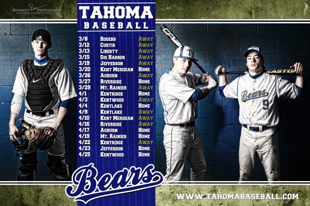 2013 Tahoma Baseball Team Calendar